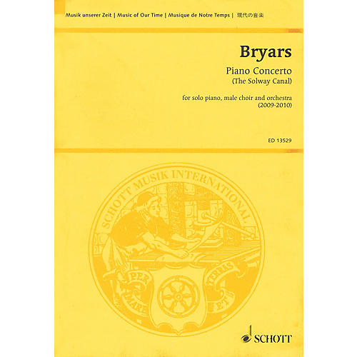 Schott Piano Concerto (The Solway Canal) Study Score Series Softcover Composed by Gavin Bryars thumbnail
