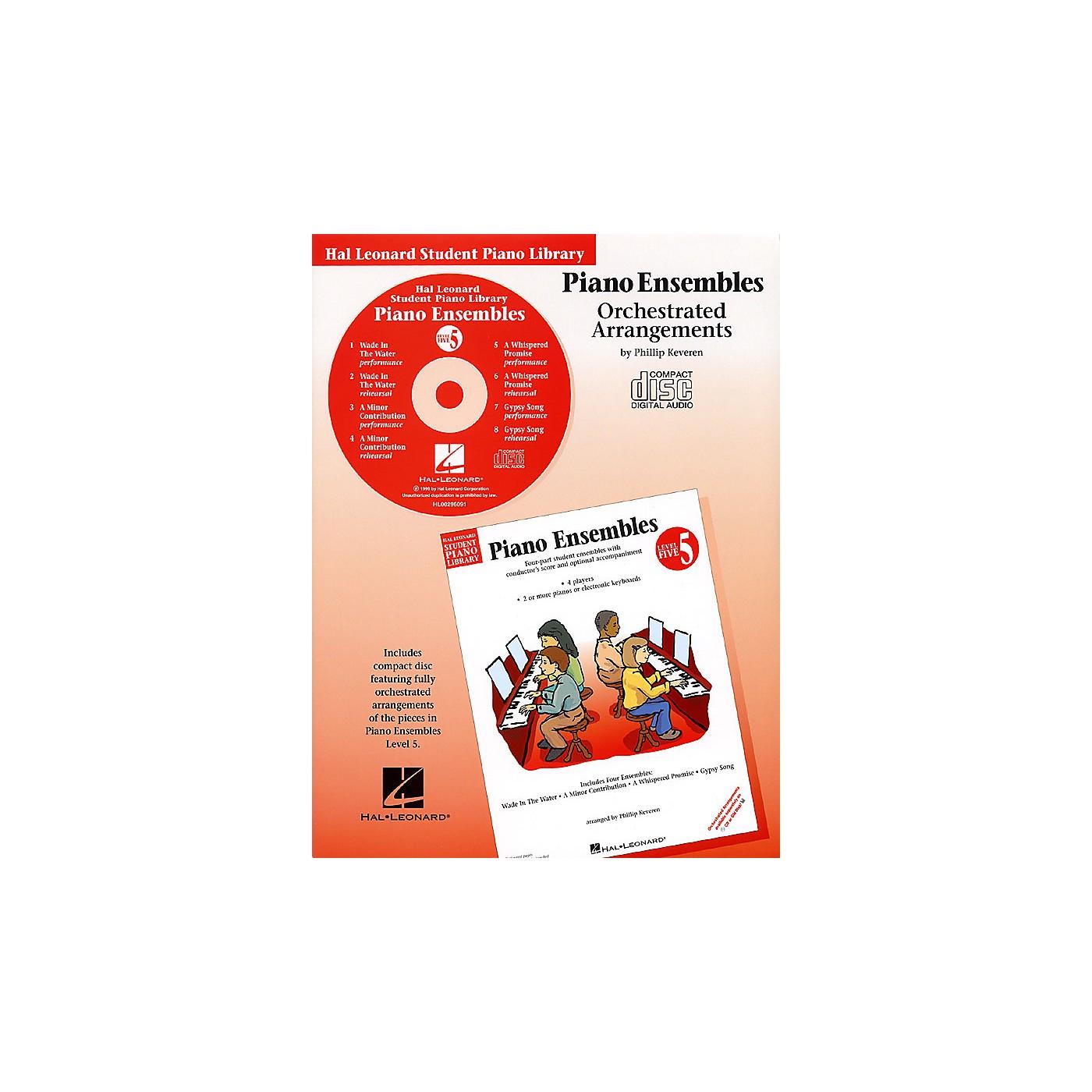 Hal Leonard Piano Ensembles - Level 5 - CD (Hal Leonard Student Piano Library) Piano Library Series CD thumbnail
