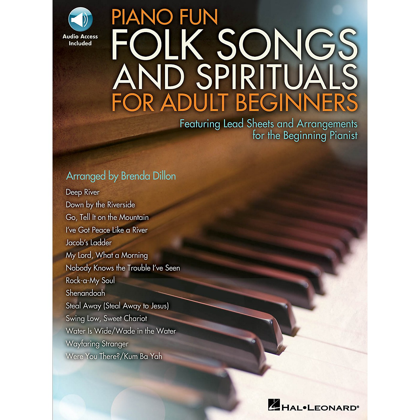 Hal Leonard Piano Fun - Folk Songs and Spirituals for Adult Beginners Educational Piano Library Book Audio Online thumbnail