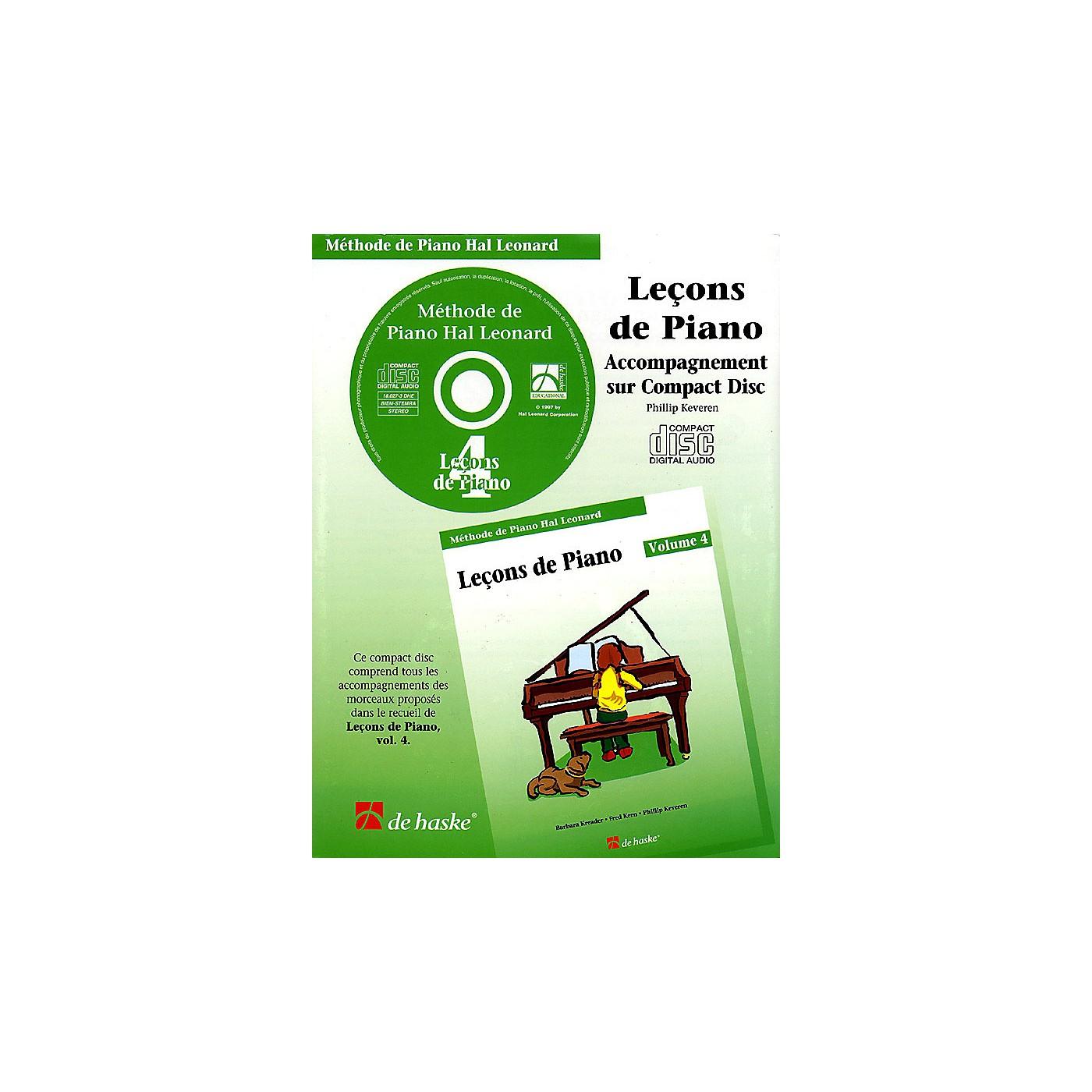 Hal Leonard Piano Lessons Book 4 - CD - French Edition Education Piano Lib French Ed Series CD thumbnail