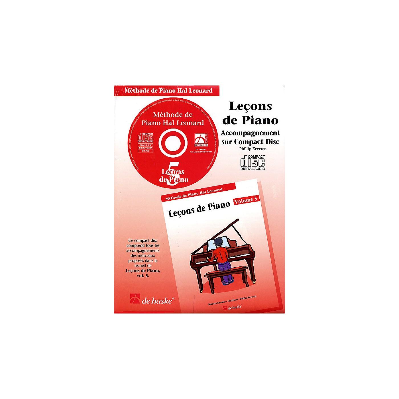 Hal Leonard Piano Lessons Book 5 - CD - French Edition Education Piano Lib French Ed Series CD thumbnail