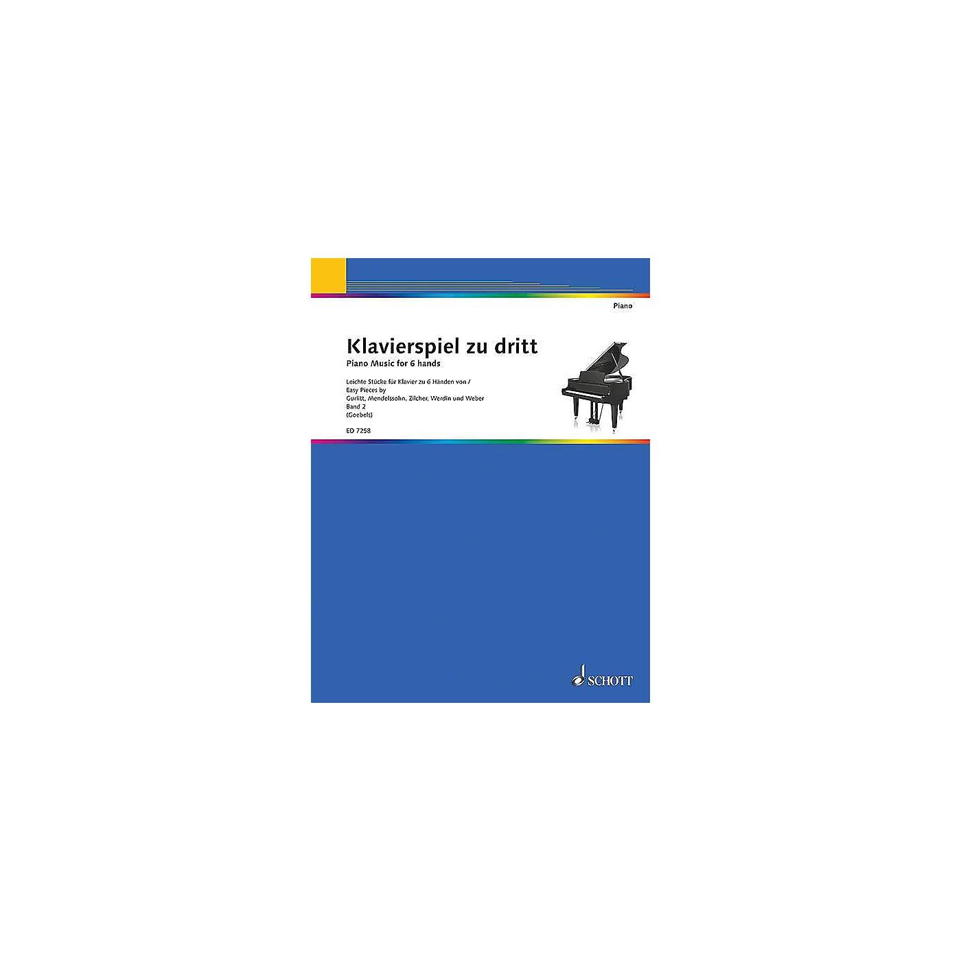 Schott Piano Music for 6 Hands - Volume 2 (Klavierspiel zu dritt - Band 2) Schott Series thumbnail