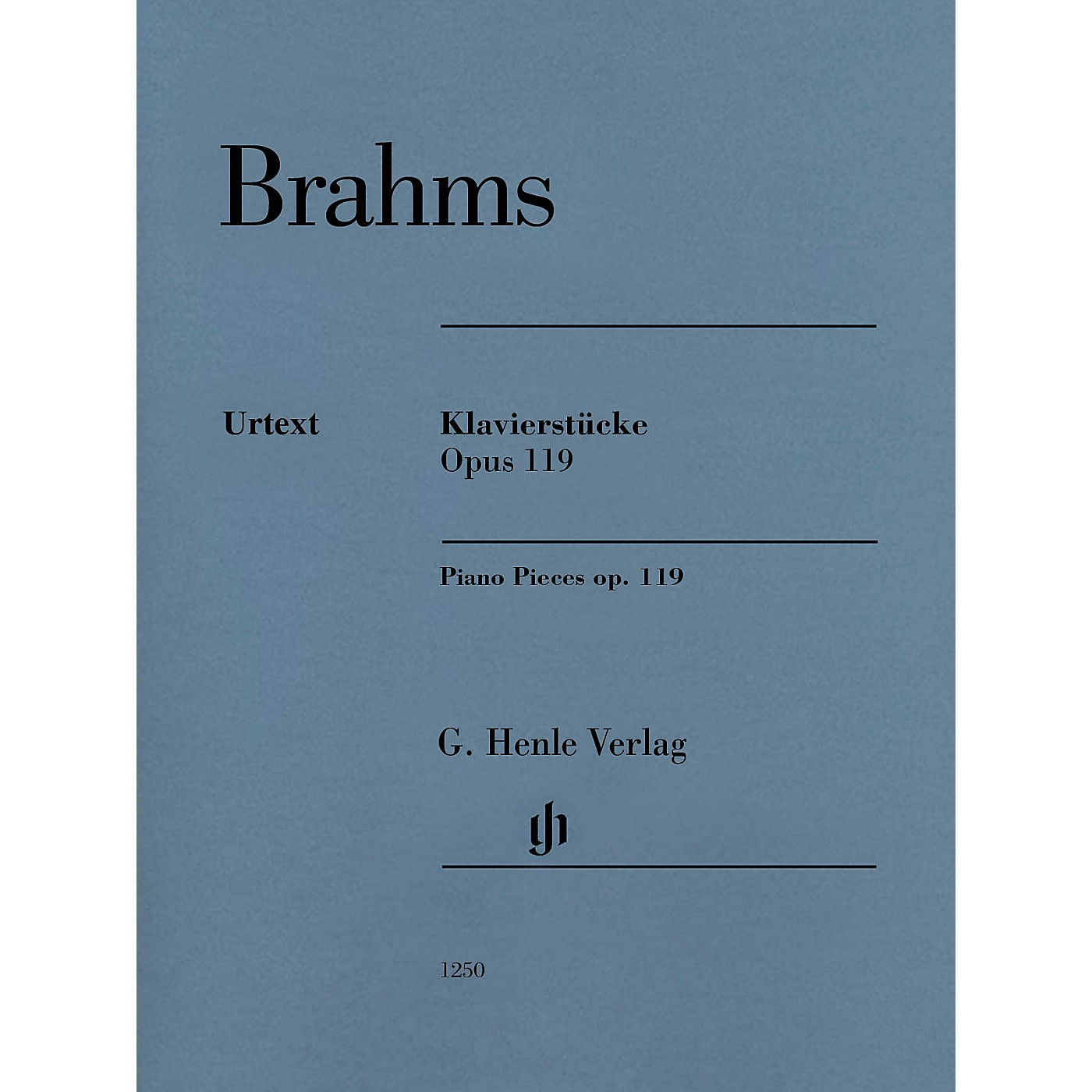 G. Henle Verlag Piano Pieces Op. 119 Revised Edition Henle Music Softcover by Brahms Edited by Katrin Eich thumbnail