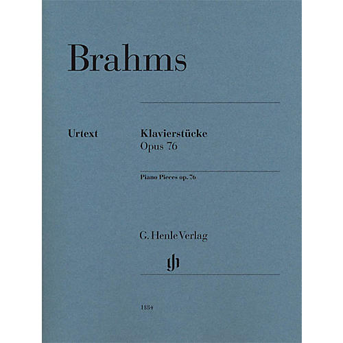 G. Henle Verlag Piano Pieces Op. 76 Nos. 1-8 Henle Music Folios Softcover by Johannes Brahms Edited by Katrin Eich thumbnail