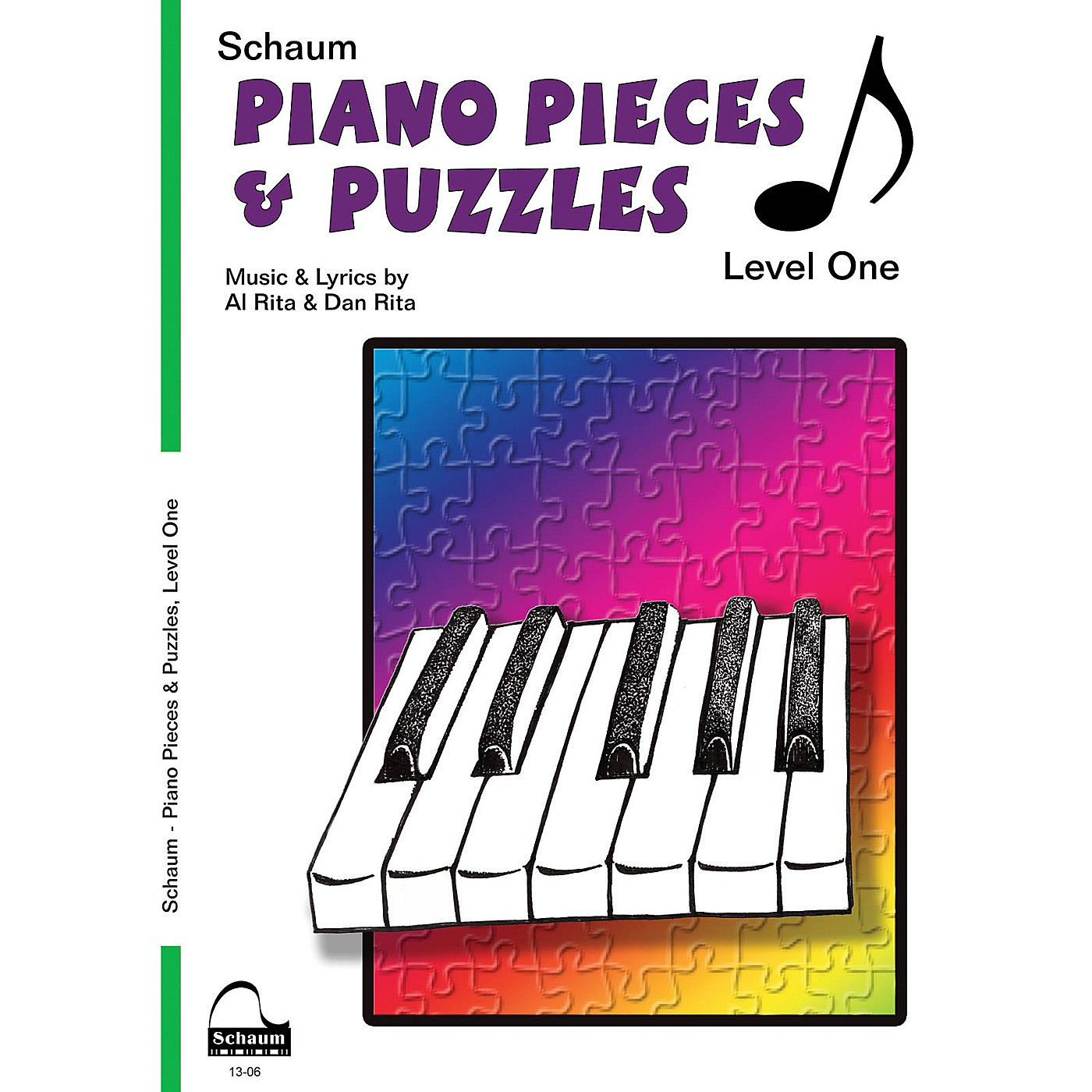 SCHAUM Piano Pieces & Puzzles (Level 1 Elem Level) Educational Piano Book by Al Rita thumbnail