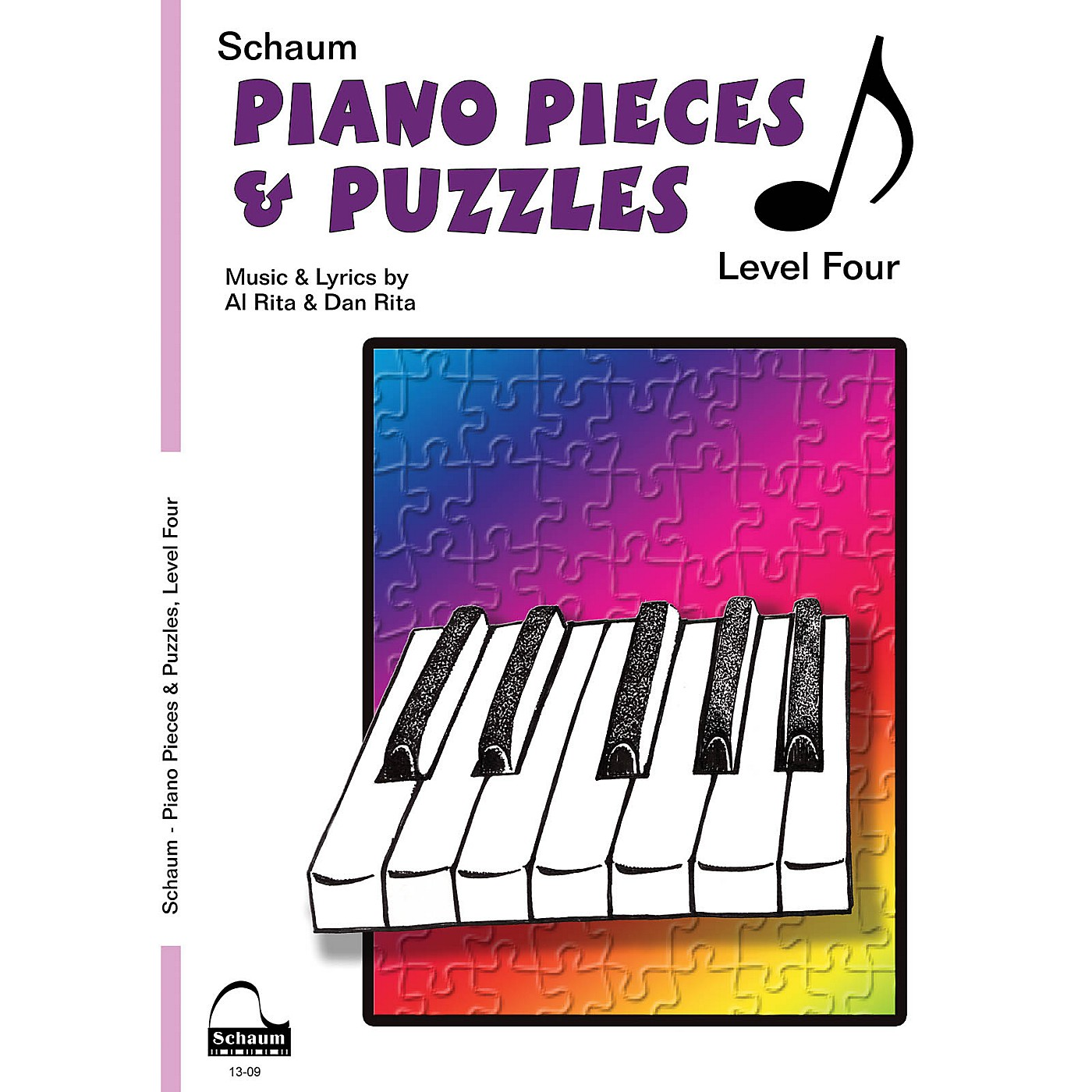 SCHAUM Piano Pieces & Puzzles (Level 4 Inter Level) Educational Piano Book by Al Rita thumbnail