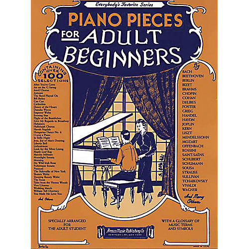 Music Sales Piano Pieces for the Adult Beginner Music Sales America Series Softcover thumbnail
