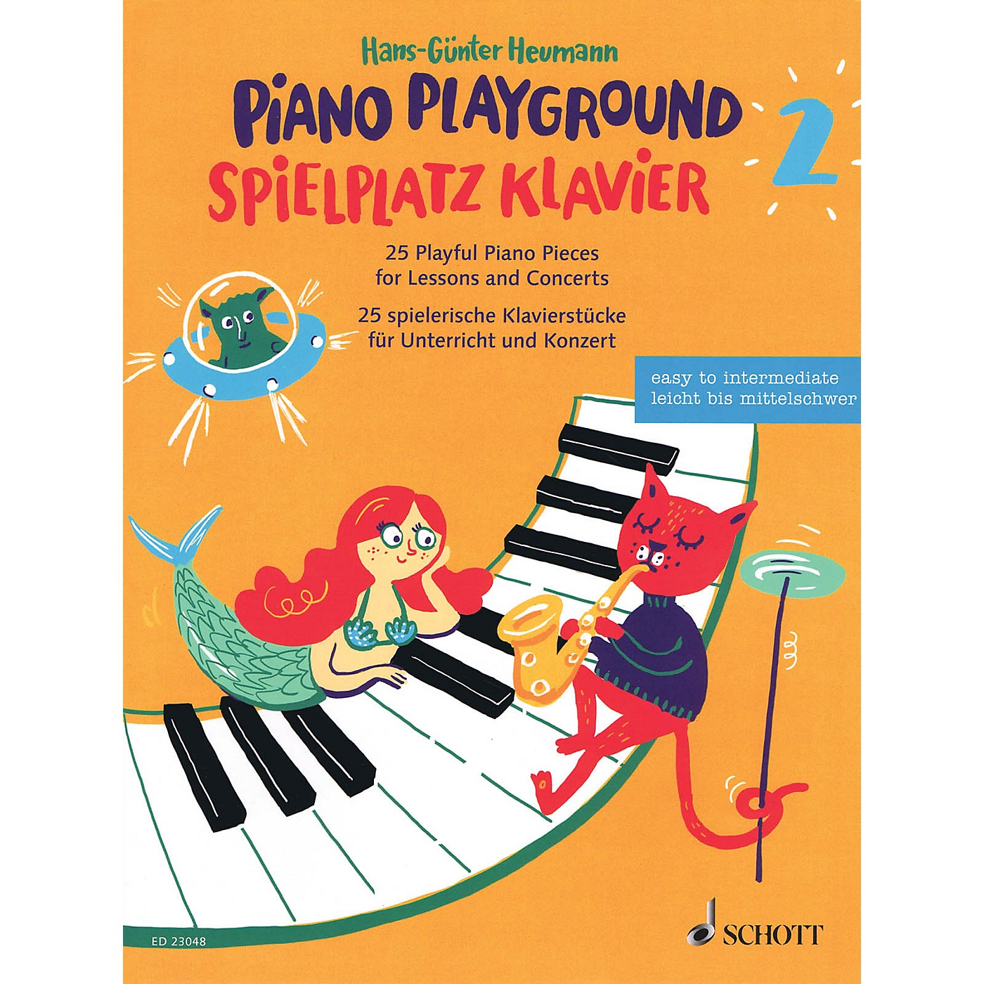 Schott Piano Playground Book 2 (Spielplatz Klavier 2) 25 Playful Piano Pieces for Lessons and Concerts by Hans-Gunter Heumann thumbnail