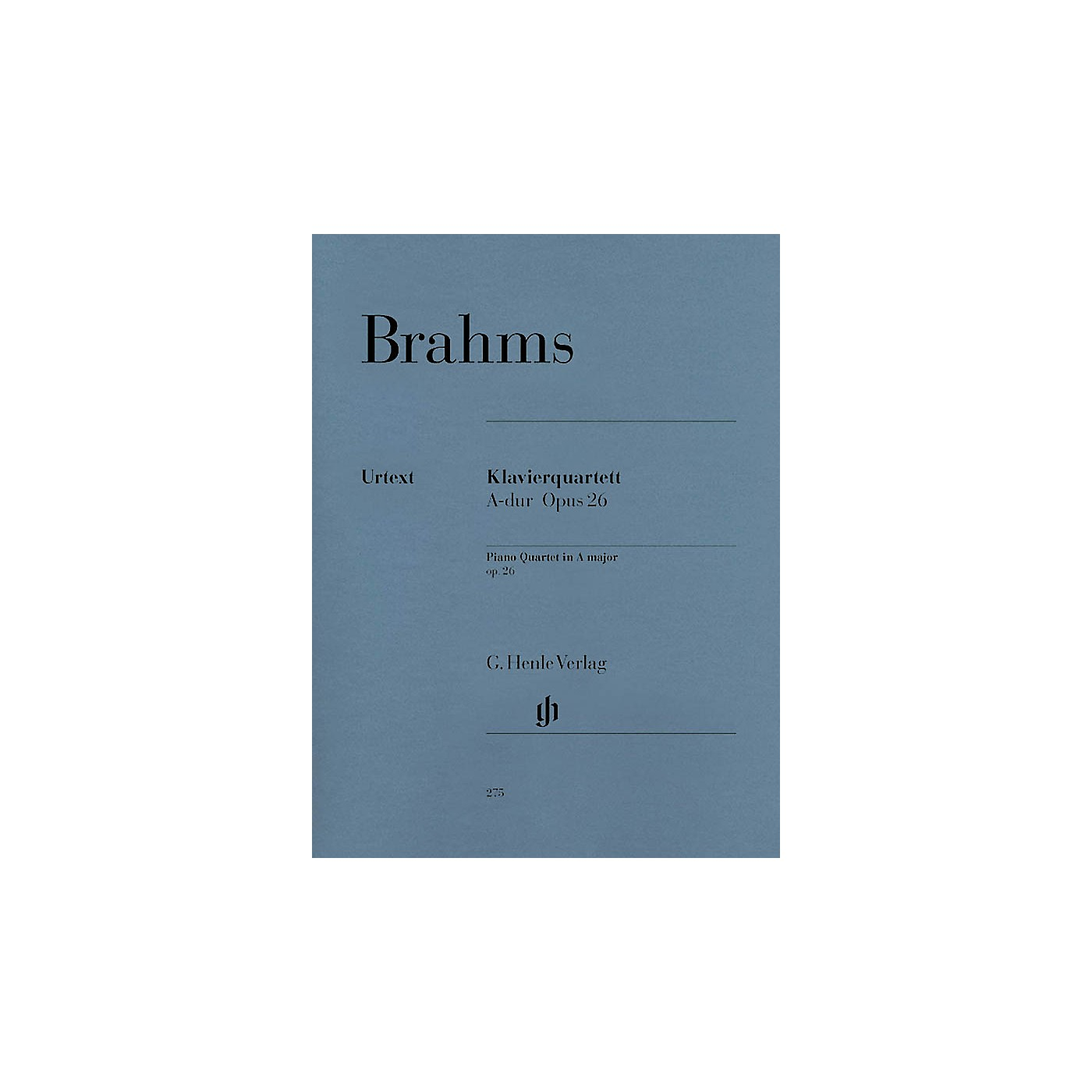 G. Henle Verlag Piano Quartet A Major Op. 26 Henle Music Folios Series Softcover Composed by Johannes Brahms thumbnail