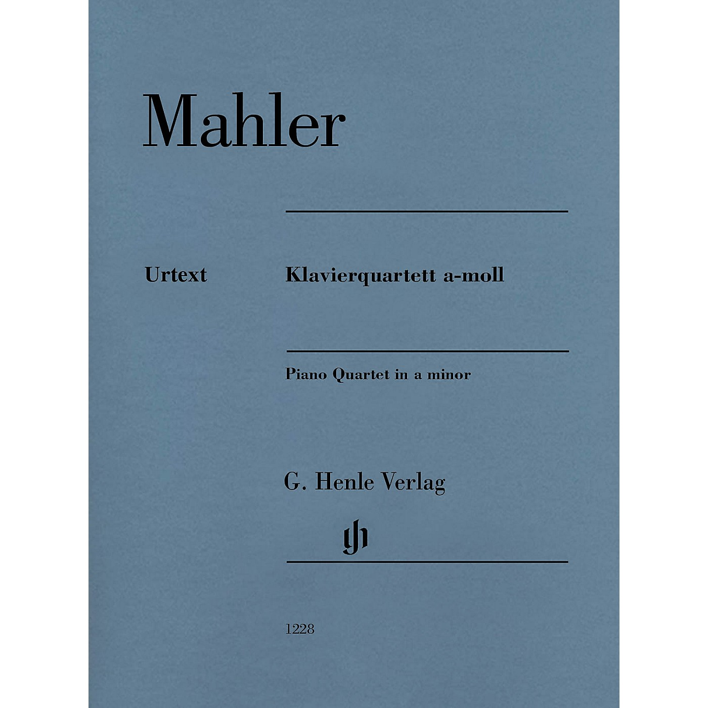 G. Henle Verlag Piano Quartet in A minor Henle Music Folios Softcover Composed by Gustav Mahler Edited by Christoph Flamm thumbnail