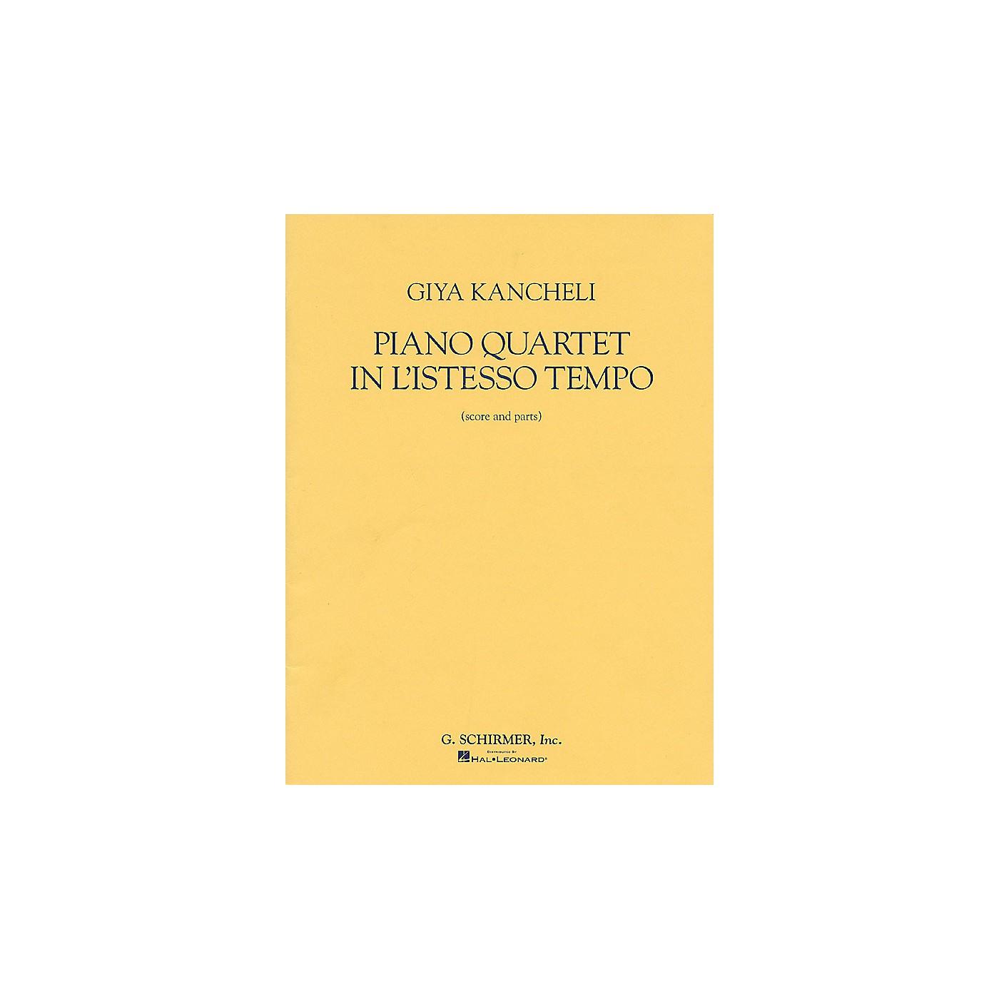 G. Schirmer Piano Quartet in L'Istesso Tempo (Score and Parts) String Ensemble Series by Giya Kancheli (Kantscheli) thumbnail