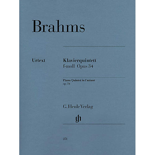G. Henle Verlag Piano Quintet F minor Op. 34 Henle Music Folios Series Softcover Composed by Johannes Brahms thumbnail