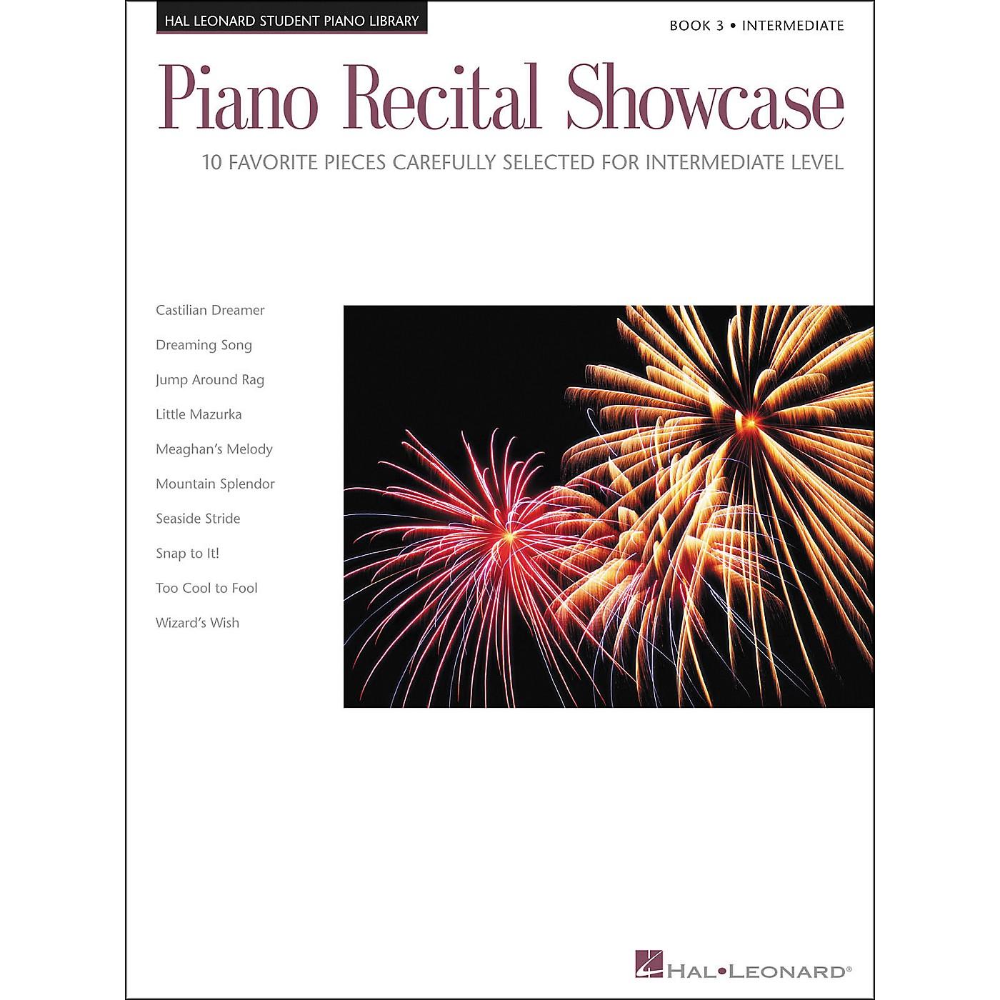 Hal Leonard Piano Recital Showcase Book 3 Intermediate level Hal Leonard Student Piano Library thumbnail