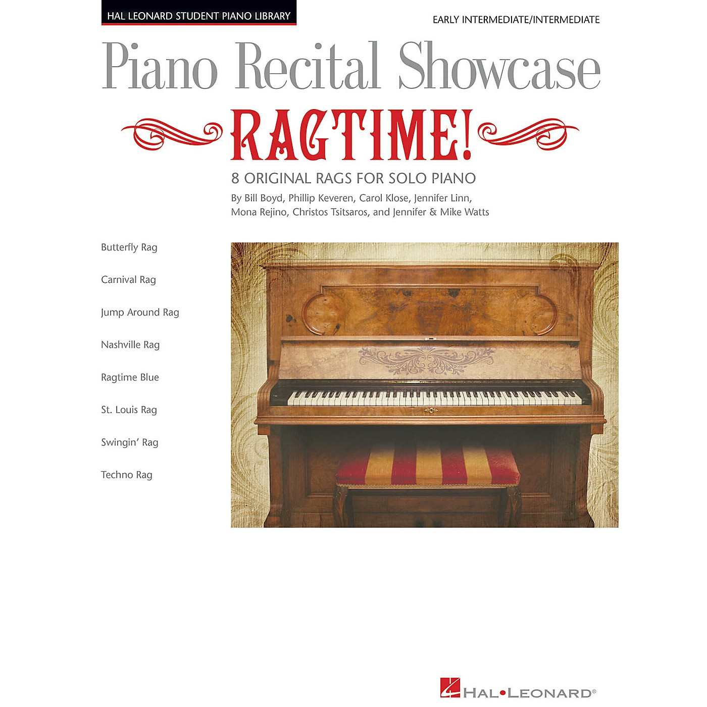 Hal Leonard Piano Recital Showcase: Ragtime! Piano Library Series Book by Various (Level Early Inter) thumbnail
