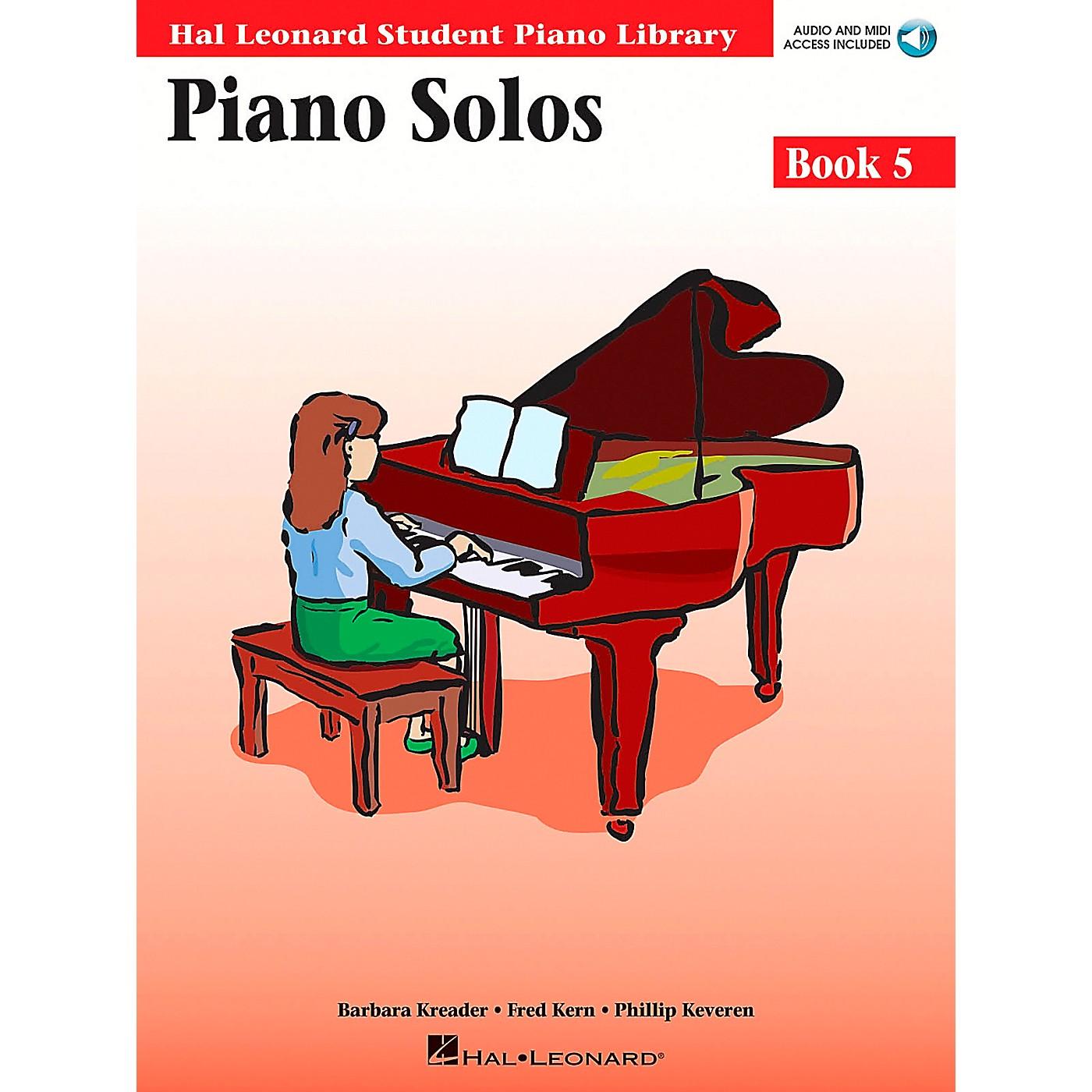 Hal Leonard Piano Solos Book 5 Book/CD Hal Leonard Student Piano Library thumbnail