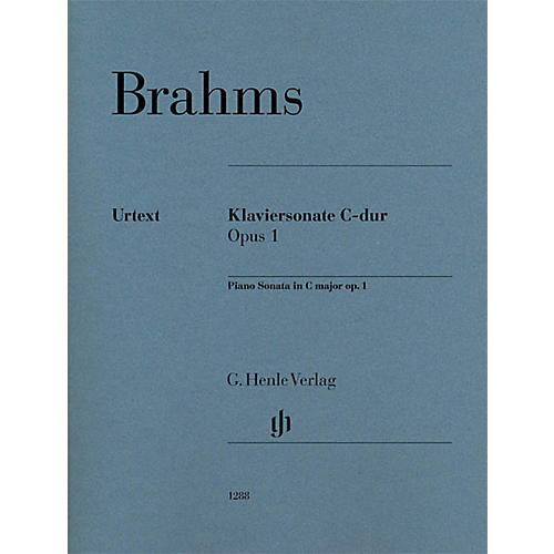 G. Henle Verlag Piano Sonata C Major Op. 1 Henle Music Folios Series Softcover Composed by Johannes Brahms thumbnail