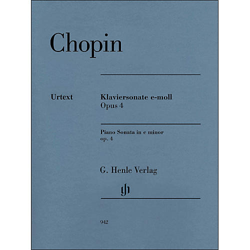 G. Henle Verlag Piano Sonata In C Minor Op. 4 By Chopin / Mullemann-thumbnail