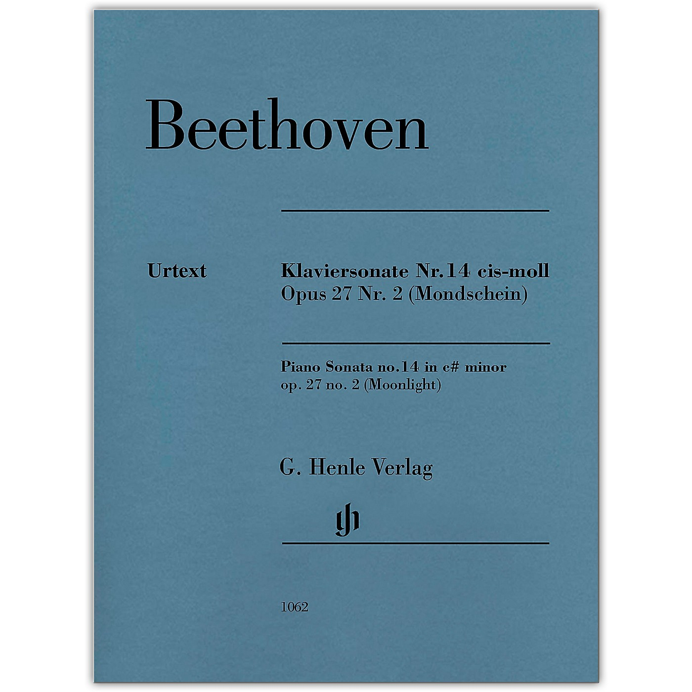 G. Henle Verlag Piano Sonata No 14 in C-sharp min Op 27 No 2 (Moonlight) Henle Music by Beethoven Edited by Gertsch thumbnail