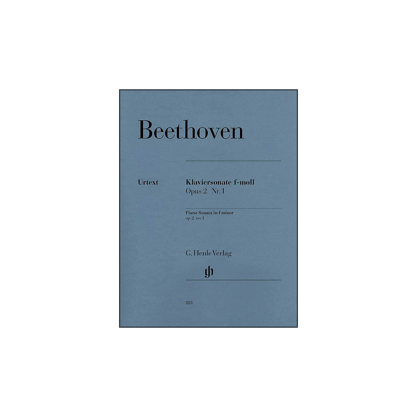 G. Henle Verlag Piano Sonata No. 1 in F Minor, Op. 2 By Beethoven thumbnail
