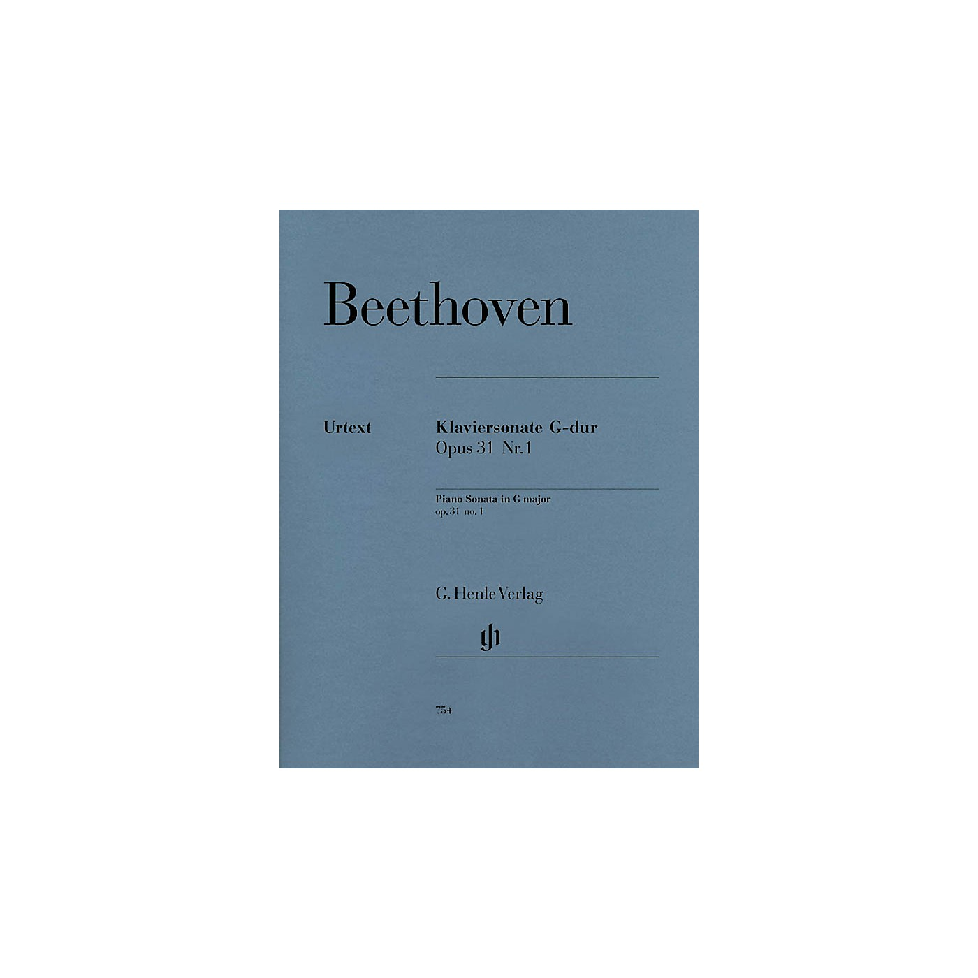 G. Henle Verlag Piano Sonata No. 16 in G Major Op. 31 Henle Music Folios Series Softcover thumbnail