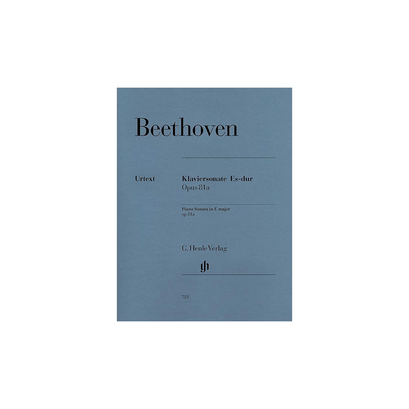 G. Henle Verlag Piano Sonata No. 26 in E Flat Major Op. 81a (Les Adieux) Henle Music Folios Series Softcover thumbnail
