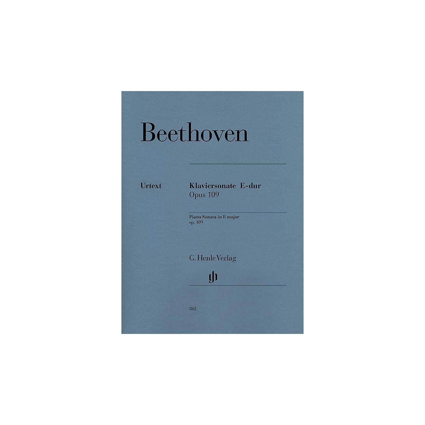 G. Henle Verlag Piano Sonata No. 30 in E Major Op. 109 Henle Music Folios Series Softcover thumbnail