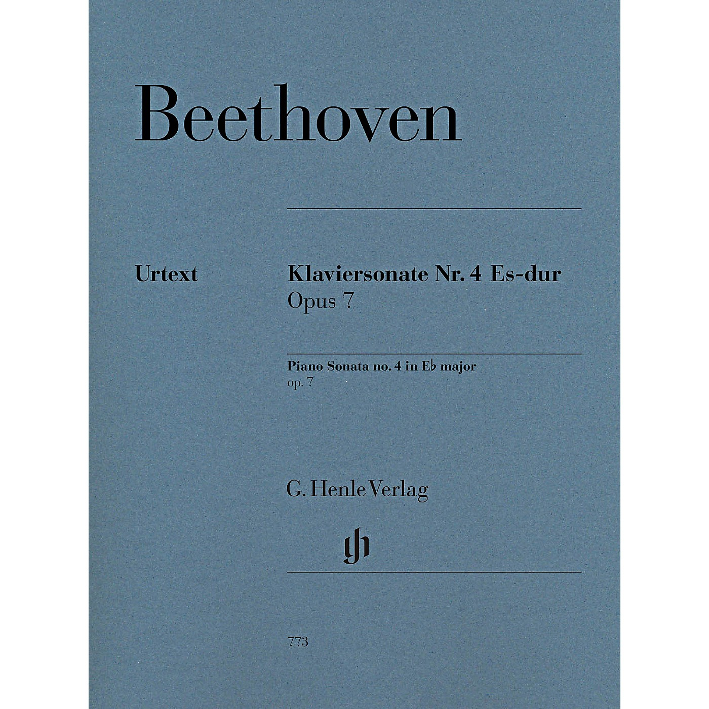 G. Henle Verlag Piano Sonata No. 4 in E-Flat Major, Op. 7 by Beethoven - Henle Urtext Edition thumbnail