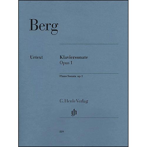 G. Henle Verlag Piano Sonata Op. 1 By Berg / Scheideler thumbnail