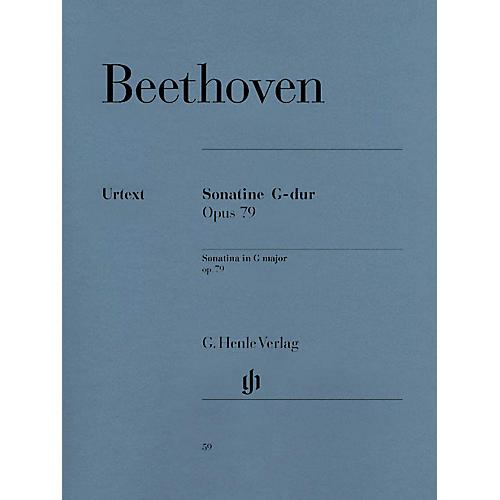 G. Henle Verlag Piano Sonata (Sonatina) No. 25 in G Major Op. 79 (Alla Tedesca) Henle Music Folios Series Softcover thumbnail