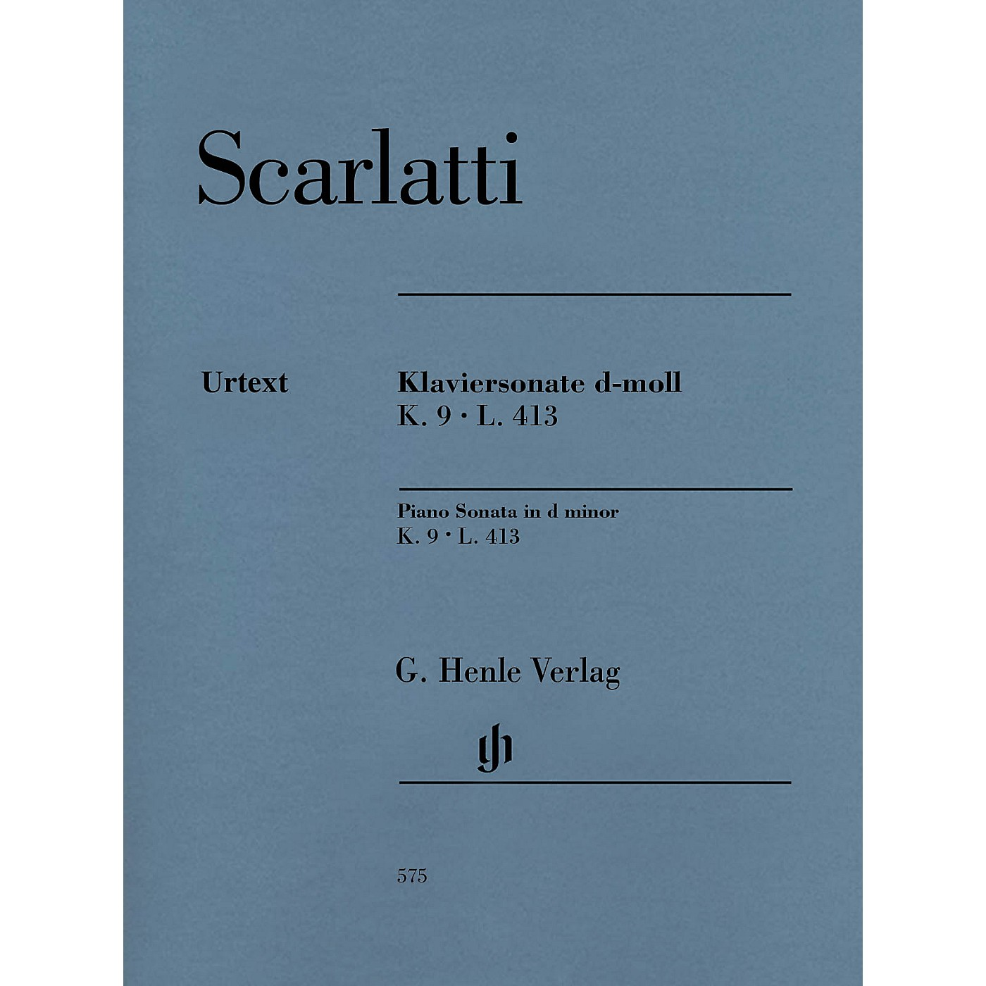G. Henle Verlag Piano Sonata in D minor, K. 9, L. 413 Henle Music Folios Softcover by Scarlatti Edited by Bengt Johnsson thumbnail