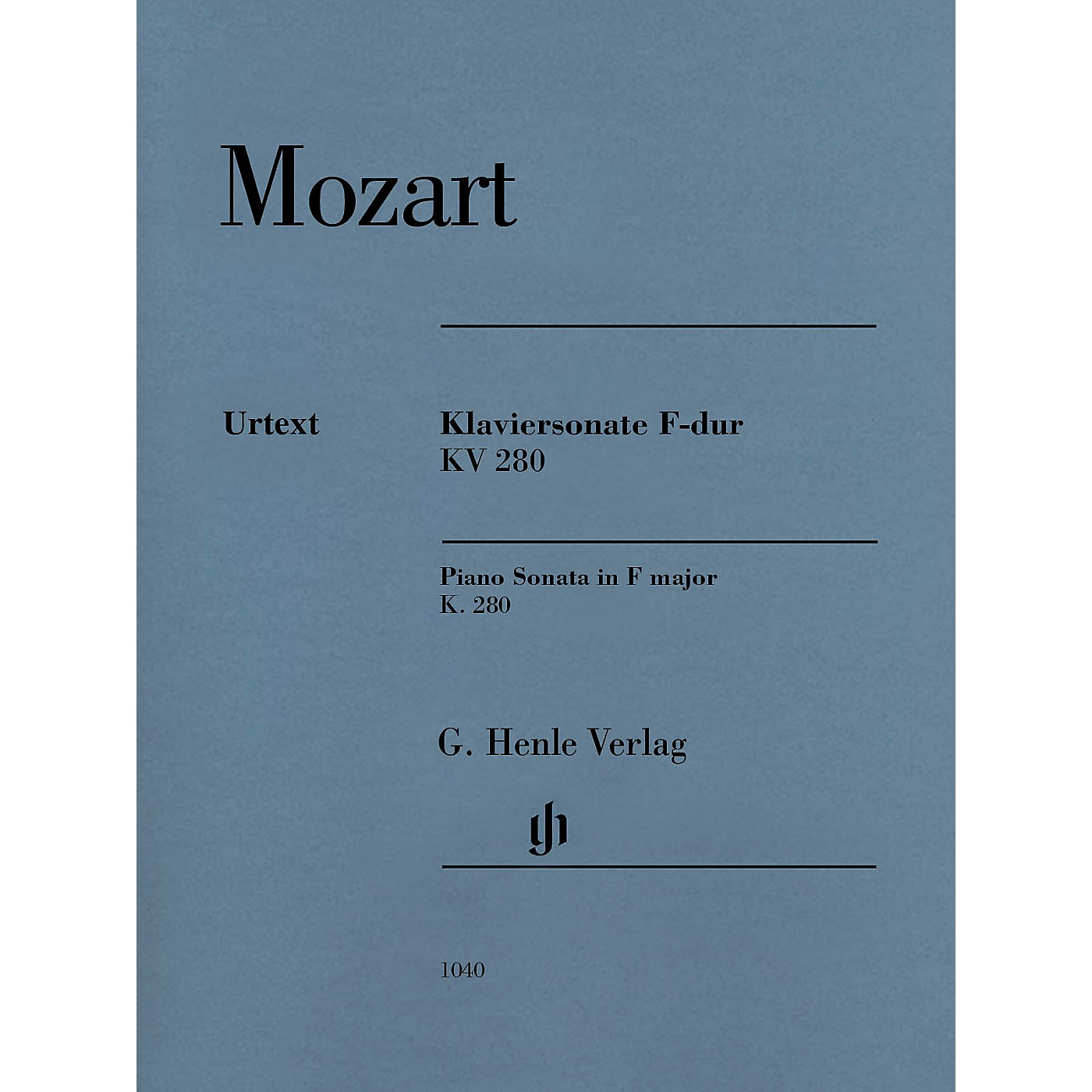 G. Henle Verlag Piano Sonata in F Major K280 (189e) Henle Music Folios by Mozart Edited by Ernst Herttrich thumbnail