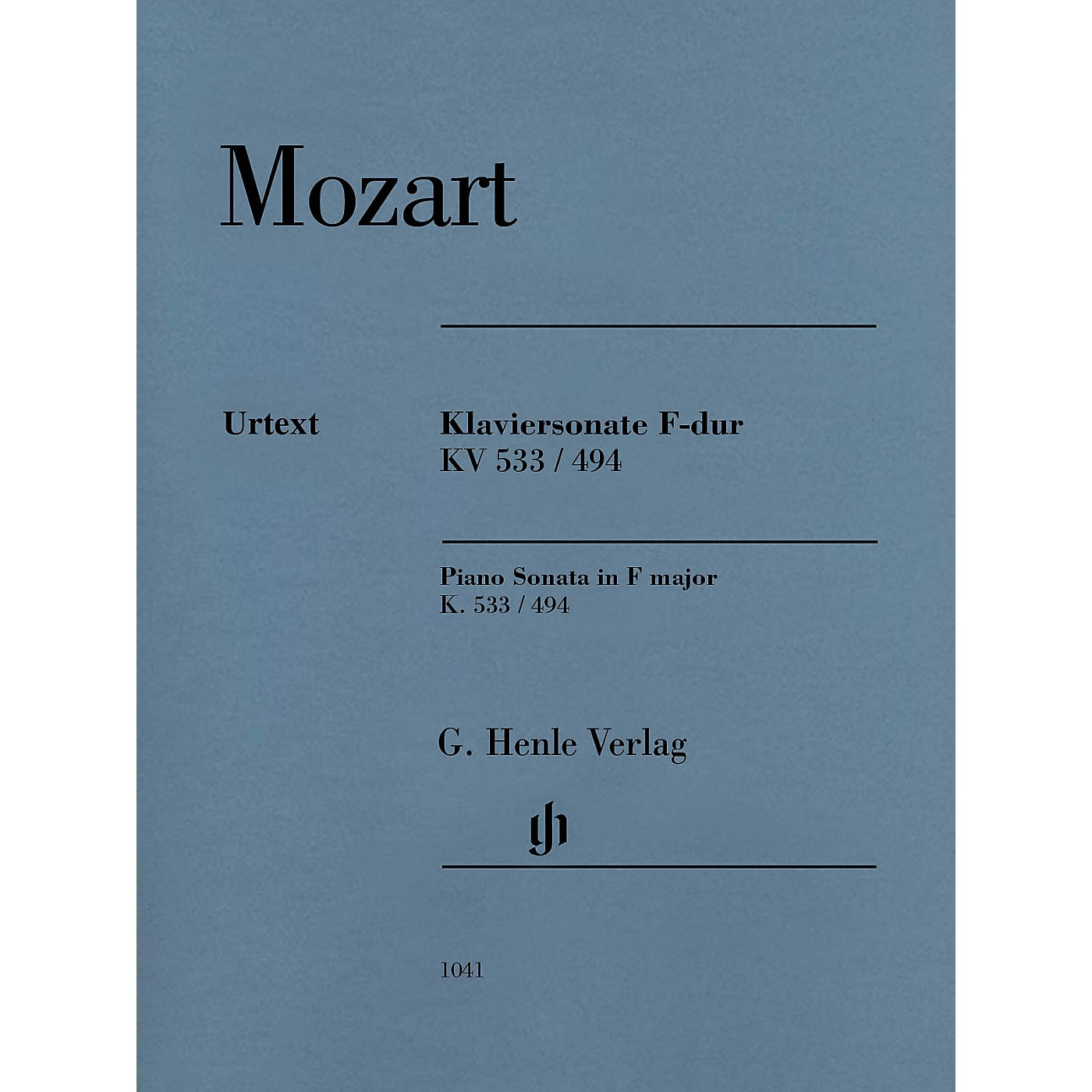 G. Henle Verlag Piano Sonata in F Major K533/494 Henle Music Folios Softcover by Mozart Edited by Ernst Herttrich thumbnail