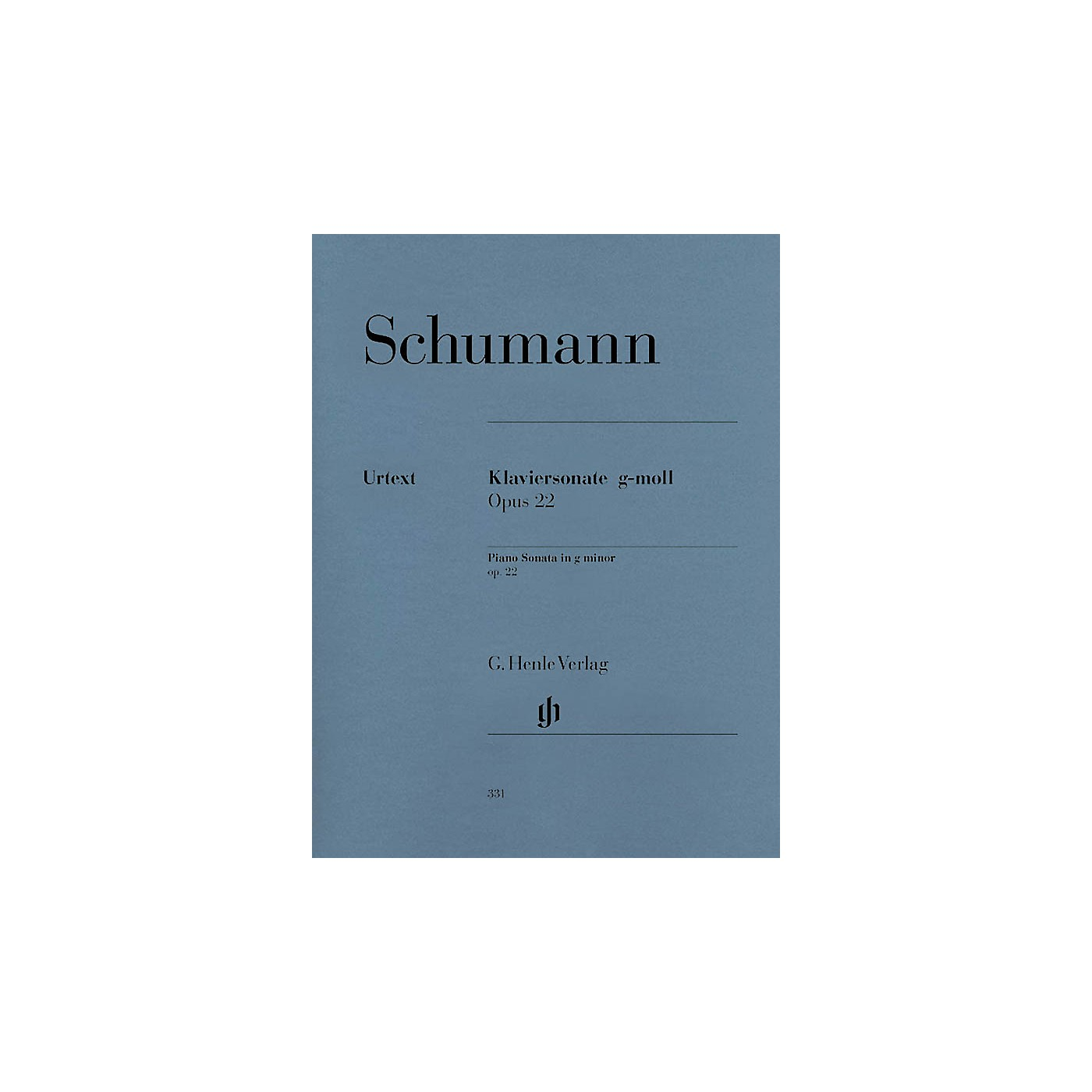 G. Henle Verlag Piano Sonata in G minor, Op. 22 (with Original Last Movement) Henle Music Folios Series Softcover thumbnail