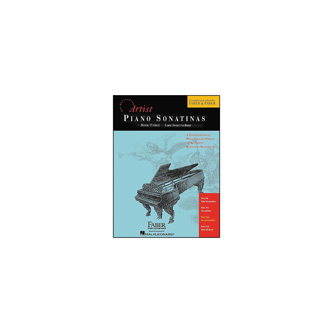 Faber Piano Adventures Piano Sonatinas Book 3 Late Intermediate - Faber Piano thumbnail