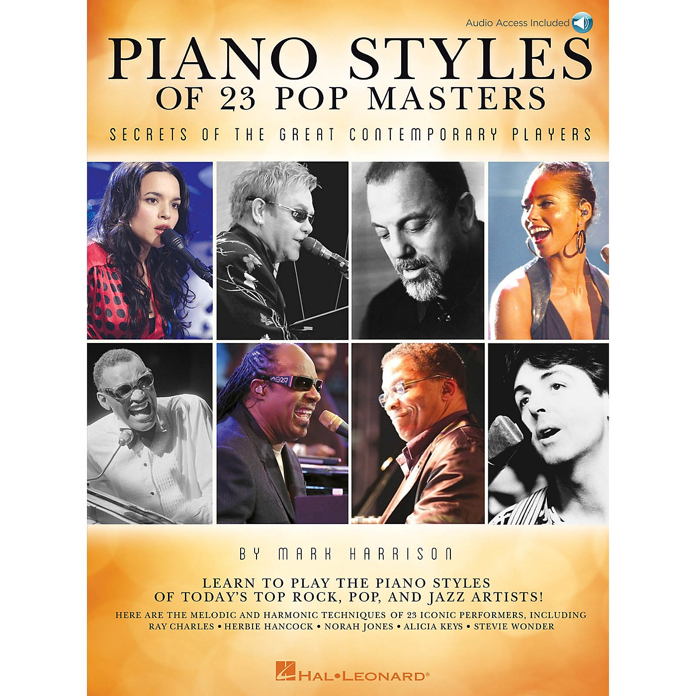 Hal Leonard Piano Styles of 23 Pop Masters Keyboard Instruction Series Softcover with CD Written by Mark Harrison thumbnail