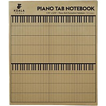 Koala Music Piano Tab Notebook