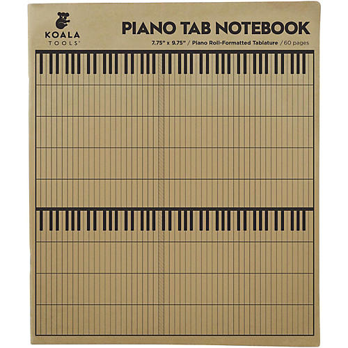 Koala Music Piano Tab Notebook thumbnail