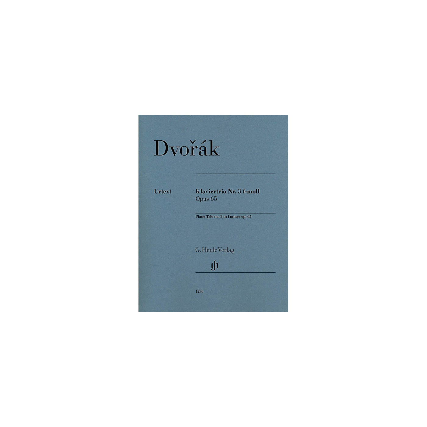G. Henle Verlag Piano Trio No. 3 in F minor, Op. 65 Henle Music Folios Series Softcover Composed by Antonín Dvorák thumbnail