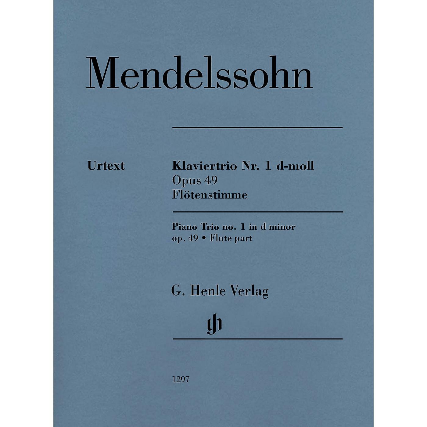 G. Henle Verlag Piano Trio Op. 49 (Additional Flute Part) Henle Music Folios Series Softcover by Felix Mendelssohn thumbnail