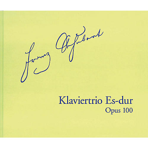 G. Henle Verlag Piano Trio in E-Flat Major, Op. 100 D929 Henle Facsimile Series Hardcover Composed by Franz Schubert thumbnail
