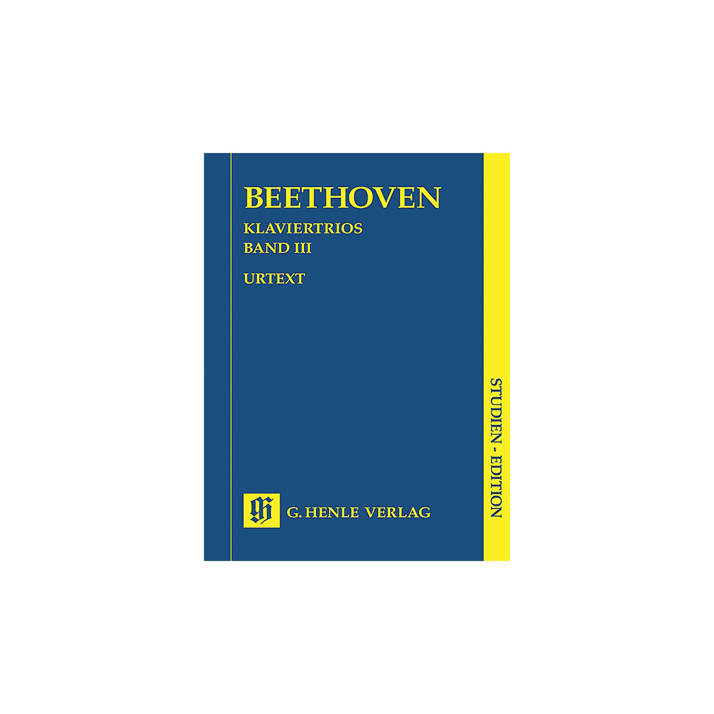 G. Henle Verlag Piano Trios - Volume III (Study Score) Henle Study Scores Series Softcover by Ludwig van Beethoven thumbnail