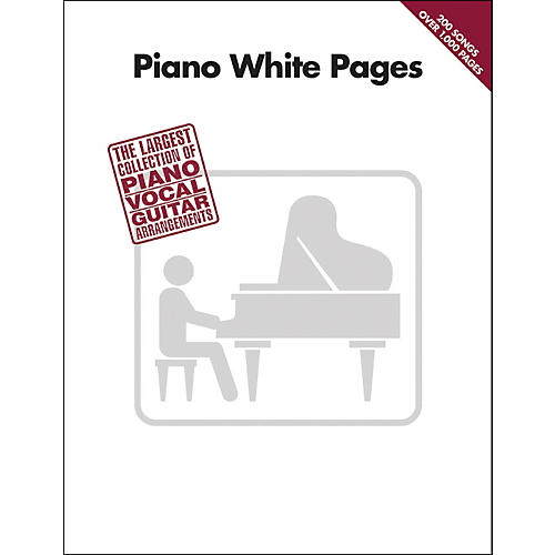 Hal Leonard Piano White Pages Piano, Vocal, Guitar Songbook thumbnail