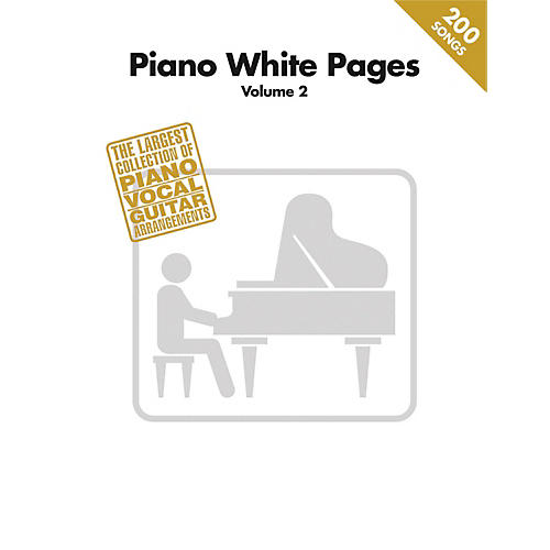 Hal Leonard Piano White Pages Vol 2 Piano/Vocal/Guitar Songbook thumbnail