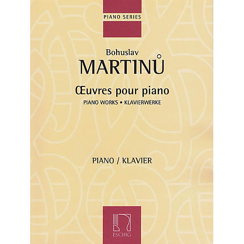 Max Eschig Piano Works Editions Durand Series Softcover Composed by Bohuslav Martinu thumbnail