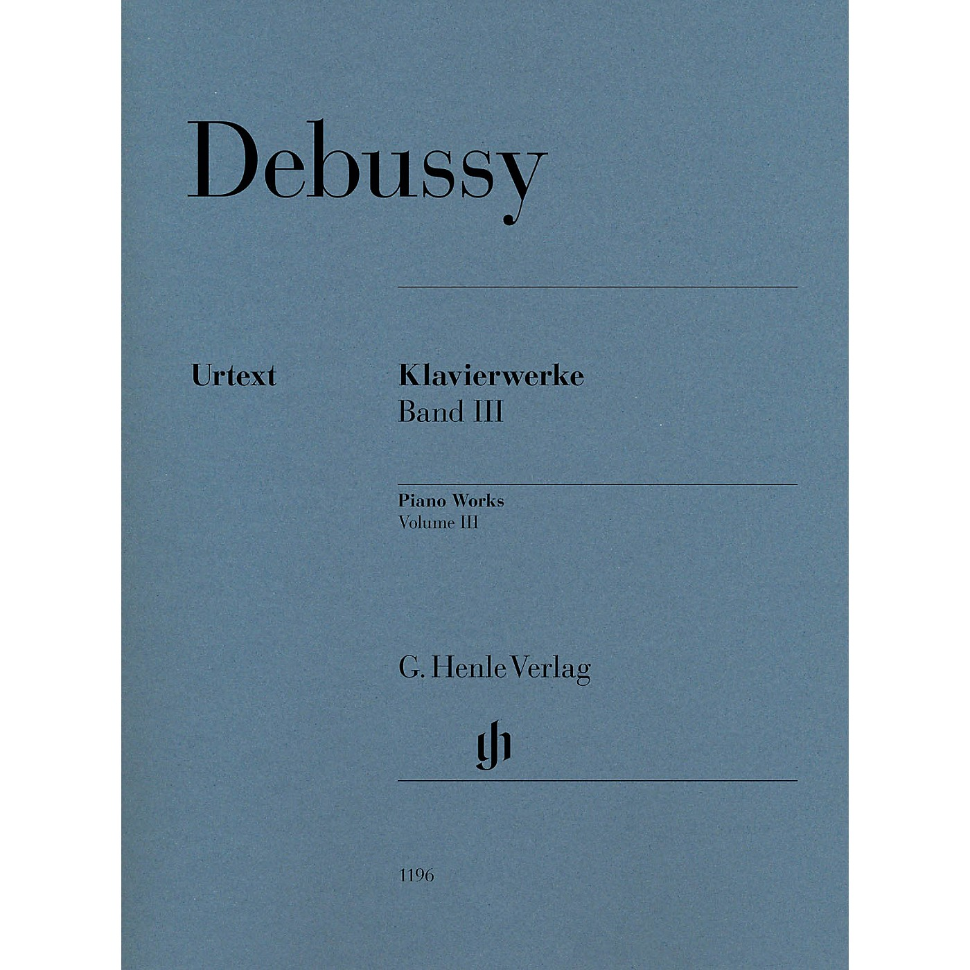 G. Henle Verlag Piano Works Henle Music Folios Softcover Composed by Claude Debussy Edited by Ernst-Günter Heinemann thumbnail