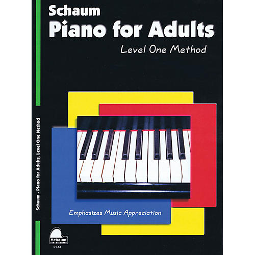 SCHAUM Piano for Adults (Level 1 Elem Level) Educational Piano Book by Wesley Schaum thumbnail