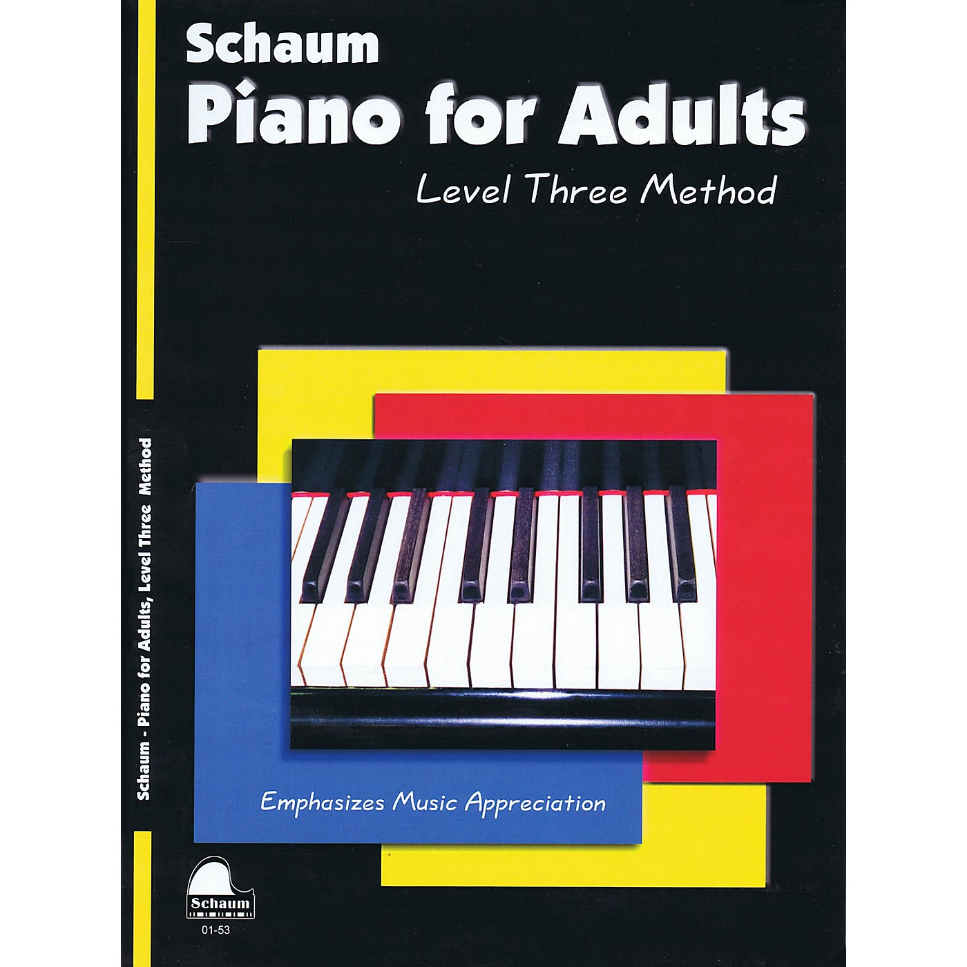 SCHAUM Piano for Adults (Level 3 Early Inter Level) Educational Piano Book by Wesley Schaum thumbnail