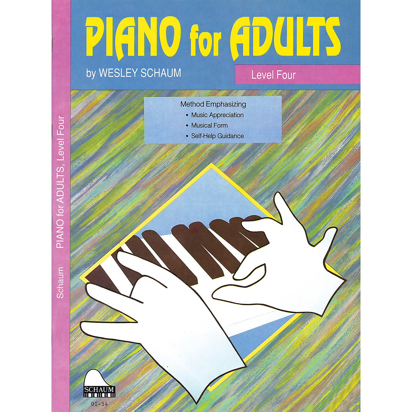SCHAUM Piano for Adults (Level 4 Inter Level) Educational Piano Book by Wesley Schaum thumbnail