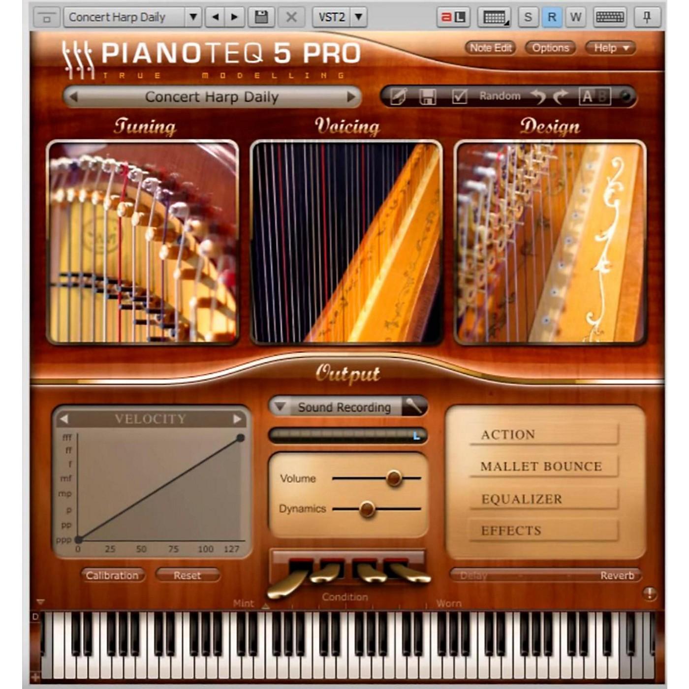 Pianotek Pianoteq Concert Harp Instrument thumbnail