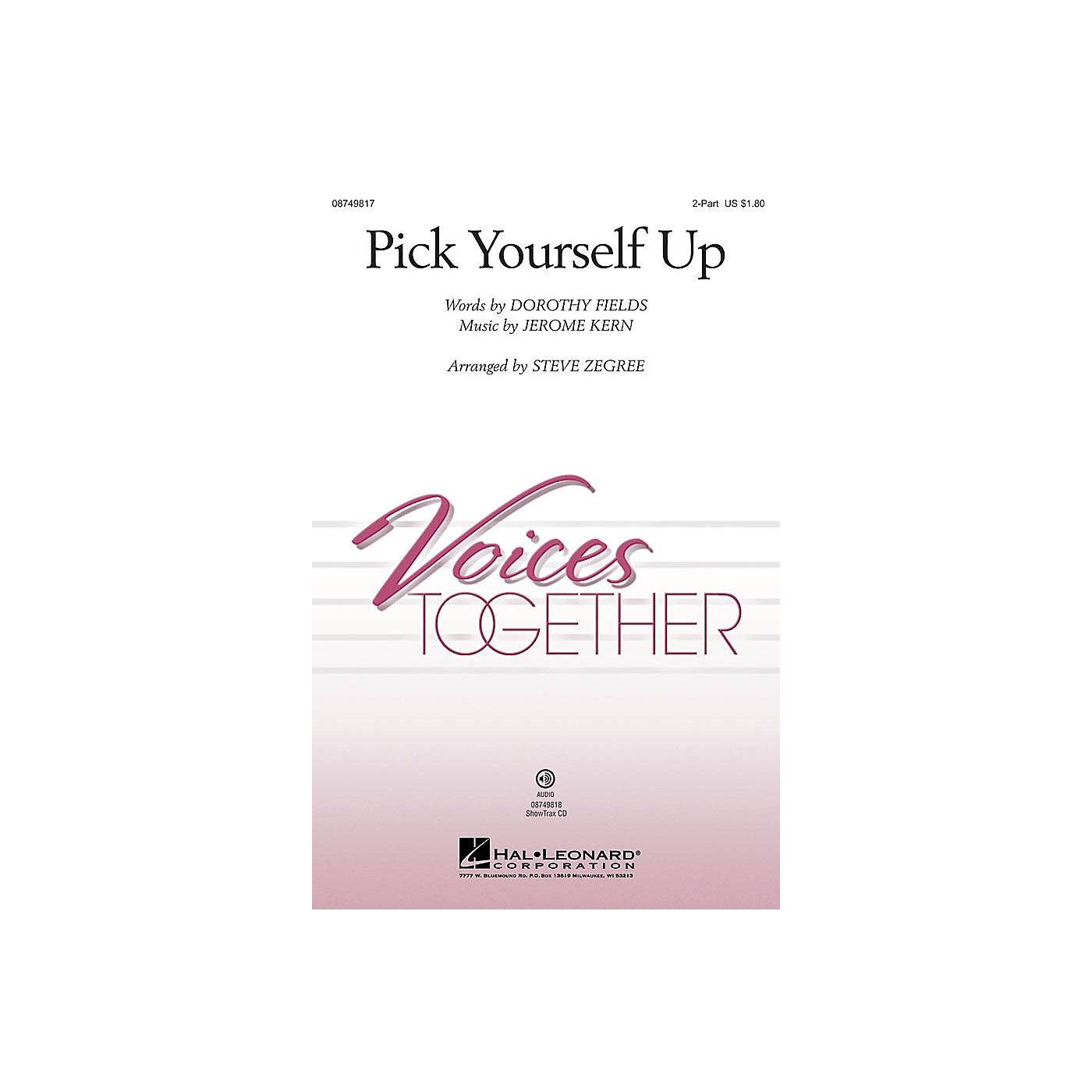 Hal Leonard Pick Yourself Up 2-Part arranged by Steve Zegree thumbnail